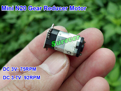 Mini N20 Full Metal Gearbox Gear Reducer Motor DC 3V 3.7V 92RPM Large Torque DIY