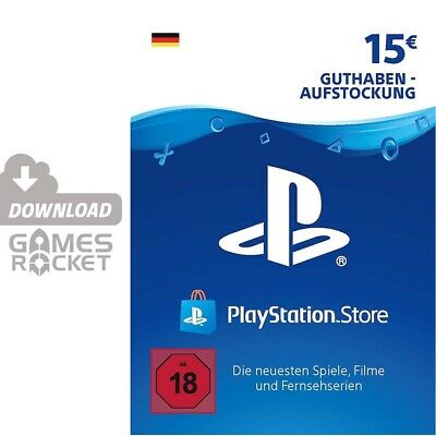 15€ PSN DE Playstation Network Code Card 15 Euro € EUR | PS4, PS3, Vita Guthaben