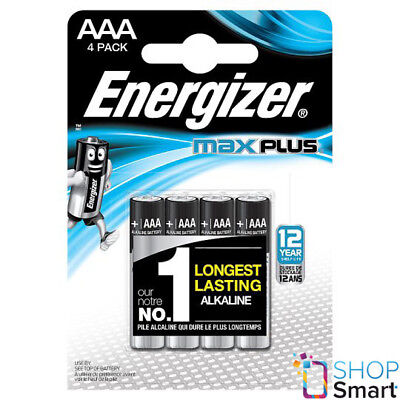 4 Energizer Max Plus Aaa Lr03 Batteries Alkaline 1.5V Micro Mn2400 Am4 E92 New