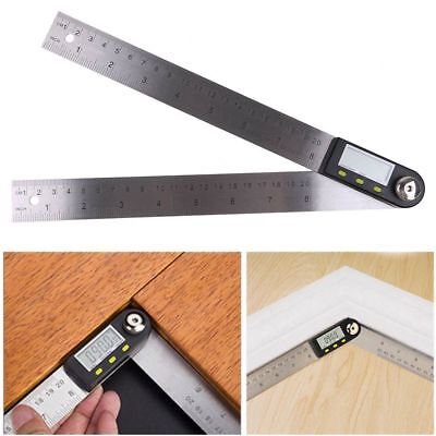 200mm Stainless Steel Digital Angle Protractor Goniometer Finder Ruler