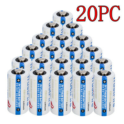 20PCS Trustfire 3V Lithium CR123A Batteries CR123 DL123A EL123A for Arlo Camera