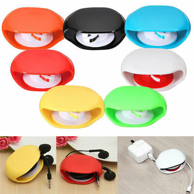 Automatic Roll Earphone Headset Headphone Cable Wire Organizer Winder Storage