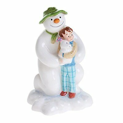 John Beswick The Snowman Kneeling with Billy and the Snowdog