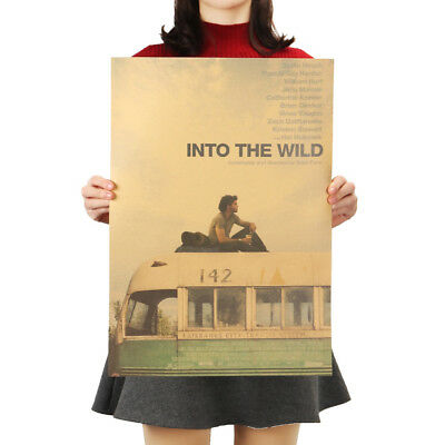 "POSTER MOVIE "" INTO THE WILD "" 51.5 X 36 cm * High Quality Kraft paper"