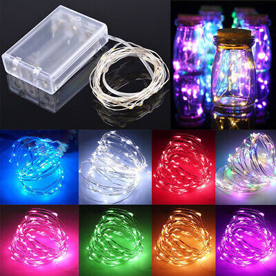 1-5M Battery Powered Copper Wire String Fairy Xmas Party Lights Warm White