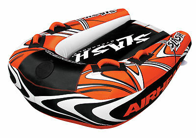 Airhead Slash 2 Towable Inflatable Ski Boat Deck Tube Bestuurbaar