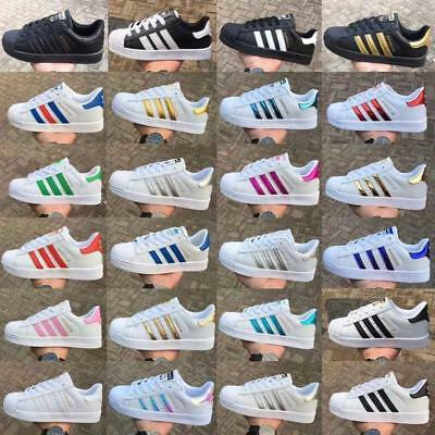 SUPERSTAR Mens Women Shoes Lace-up Pumps Casual Trainers Running Sports Shoes UK