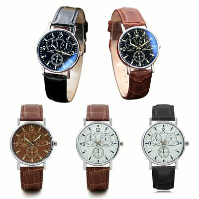 Men Stainless Steel Wristwatch Leather strap Automatic Mechanical DG