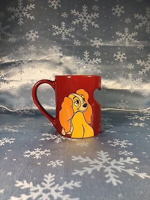 Disney Parks LADY Red Heart Ceramic Coffee Mug Cup NEW NWT Lady & the Tramp OSS