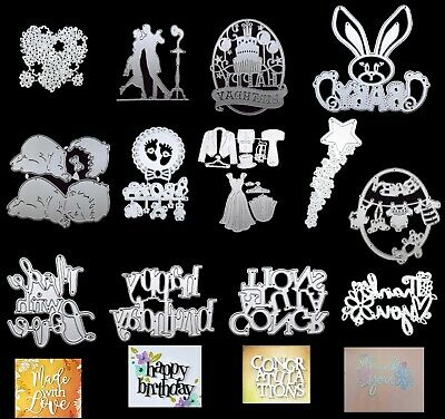 60 DESIGNS Metal Cutting Dies Die Card Scrapbook Birthday Baby Wedding Love
