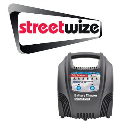 Streetwize 4 Amp Fully Auto Car Battery Charger SWBCLED4 & Mobile Holder/Charger
