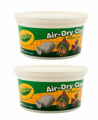 Crayola Air-dry Clay 2.5-lb Bucket White (Pack Of 2)