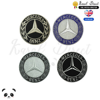 Mercedes Benz Car Brand Embroidered Iron On /Sew On Patch Badge For Clothes etc
