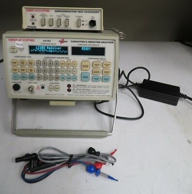 Sencore LC103 Rezolver Capacitor & Inductor Analyzer w/ Semiconductor Acc - NG26