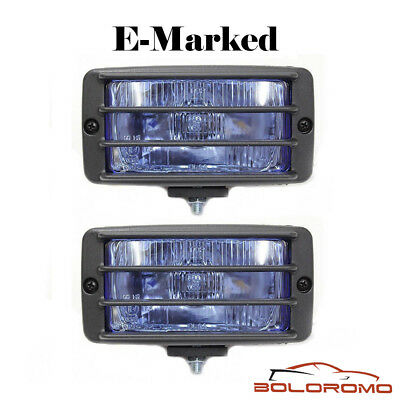 Universal Fog Spot Lights Blue Grille Light Car Van 4x4 Pick Up Offroad E-Marked