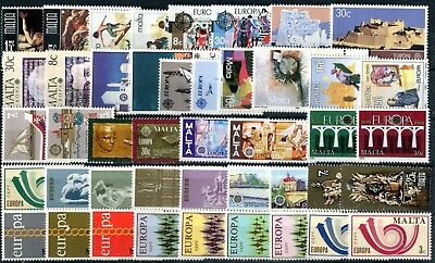 MALTA EUROPA 1971-1997 collection of 19 complete sets MNH (1288)
