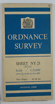 1961 old OS Ordnance Survey 1:25000 First Series prov Map NY 21 Borrowdale
