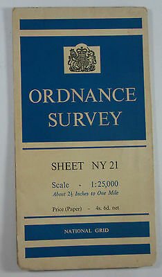 1956 old OS Ordnance Survey 1:25000 First Series prov Map NY 21 Borrowdale