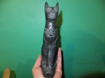 Beautiful Ancient Egyptian Cat Goddess Bastet Statuette (Repro).