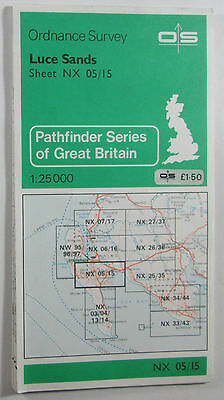 1980 old vintage OS Ordnance Survey 1:25000 Pathfinder map NX 05/15 Luce Sands