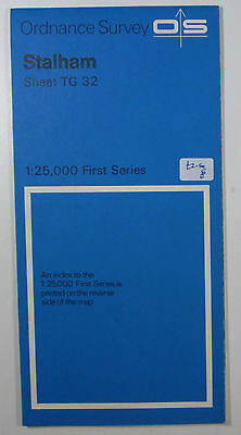 1970 old vintage OS Ordnance Survey 1:25000 First Series map TG 32 Stalham