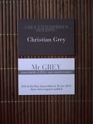 Carte De Visite Promo Christian Grey 50 Nuances