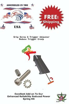 Grip Screw & Trigger Adjuster Stainless Steel 223 5.56 308 Anderson/Magpul/Luth