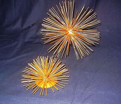 LOT of 2 Metal Wall plus Table Sculpture STARBURST Spike Decor
