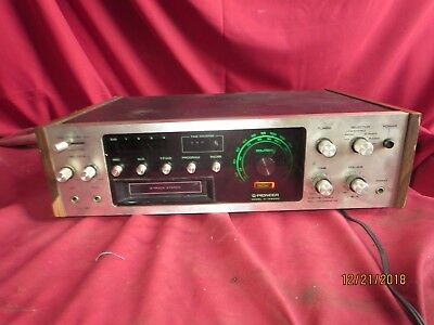 Vintage Pioneer H-R9000 Stereo receiver 8 track player powers up Spec No KCU