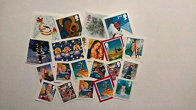 20 Unfranked Second Class Christmas Stamps
