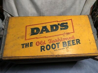 Vintage Dad's Root Beer Wood Crate Box. Outstanding condition