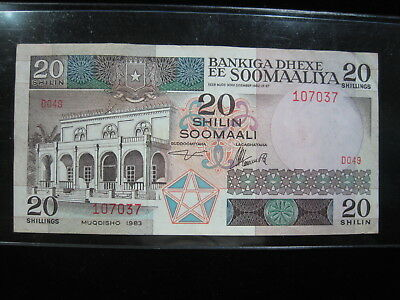 Somalia 20 Shilling 1983 P33 Soomaaliya 84# Bank Currency Money Banknote