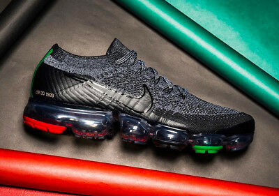 Nike Air Max VaporMax Flyknit BLACK HISTORY MONTH BHM GREY RED AQ0924-007 sz 15