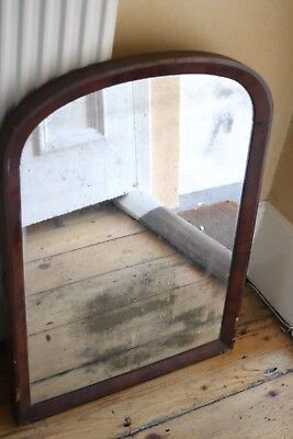 Antique Foxed Mercury Mirror in mahogany frame Your courier collect po5
