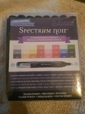 Spectrum Noir Professional Alcohol Markers - 24 Pack | New