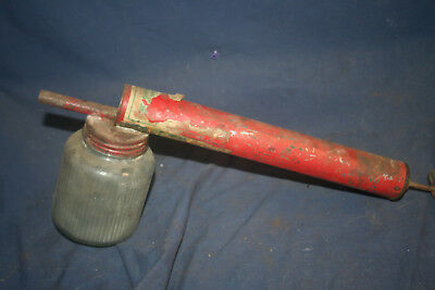 Vintage Collectible Metal Bug Sprayer With Glass Jar