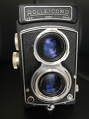 - Rolleicord III Twin Lens Reflex Camera with T* Zeiss Triotar 75mm Lens