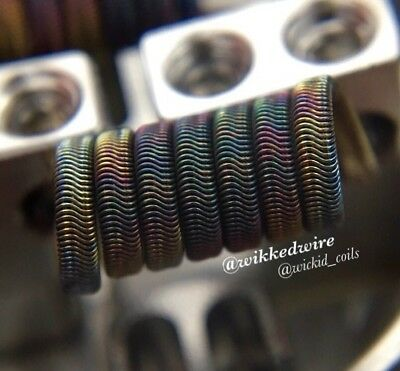 2x Wikked Wire High Res. N70/N90 Alien Coils +Free Coils! (Nichrome 80, Staple)