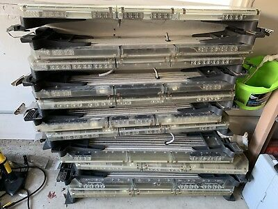 Lot Of 2 Code 3 Led X 2100 Lightbars With Alleys And Take Downs R/B