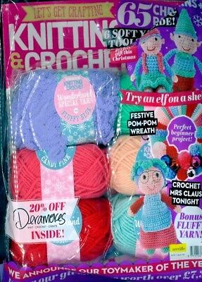 Lets Get Crafting Knitting & Crochet Magazine #106 ~ With 6 Yarns & 65 Patterns