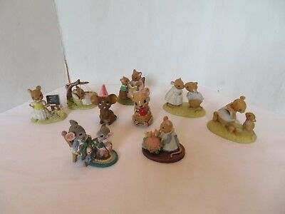 Lot of 9 Small Mouse Figurines Enesco, Joseph, Norcrest,Tiny Talk