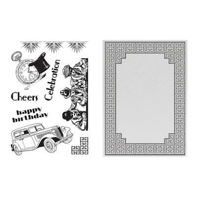 Ultimate Crafts 'THE RITZ COLLECTOIN STAMP & EMBOSS SET' Birthday *Deleted*
