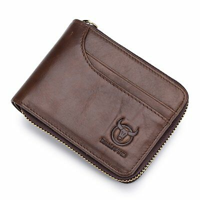 Genuine Leather Men Wallets Short Coin Purse Small Retro Wallet Card Holder NEW