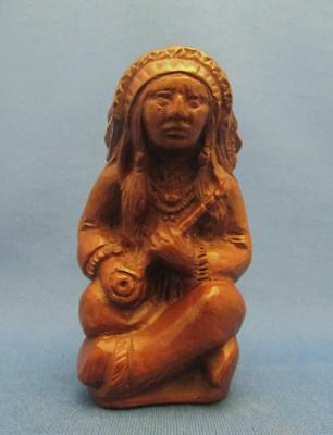 Red Mill Indian Chief Pecan Shell Resin Figurine - 1989