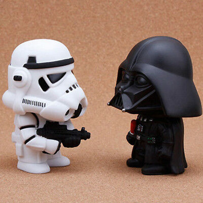 "Black/White 10cm/4"" PVC Space Star Wars Darth Vader Action Figure Kids Gift Toy"