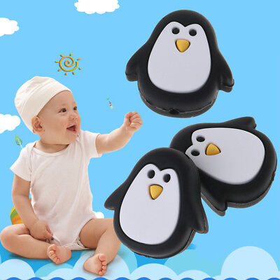 Silicone Bead Cute Penguin DIY Teething Necklace Bracelet Pendant Baby Teether
