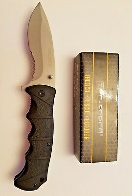 "9"" TAC FORCE SATIN SPRING TACTICAL RESCUE Assisted Pocket Knife Folding Blade"