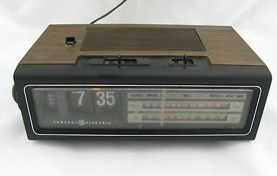 Vintage GE General Electric Flip Clock 7-4310 AM/FM Radio Work Clock Need Repair