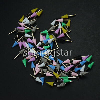 Dental Rubber Polishing Brush Prophy Polisher Cup Burs Points Colorful Tapered