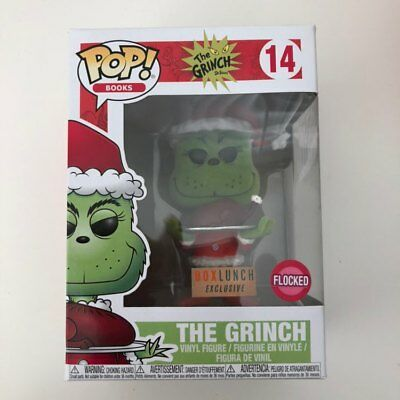 Funko POP Books  The Grinch Flocked with Roast Beast #14 - Box Lunch Exclusive